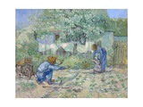 First Steps, after Millet Giclee-trykk av Vincent van Gogh