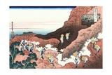 Climbing on Mt. Fuji Giclee Print by Katsushika Hokusai