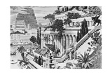 Illustration of the Hanging Gardens of Babylon Giclee Print