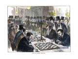 Oxford and Cambridge Chess Match Giclee Print