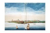 Gezicht Op Nieuw Amsterdam (A View of New Amsterdam, Aka New York City or Manhattan) Giclee Print by Johannes Vingboon