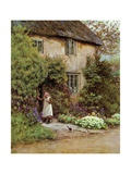 The Cottage Door Giclee Print by Helen Paterson Allingham
