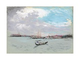 Outside Venice (Lagoon and Gondola) Giclee Print by Joseph Pennell