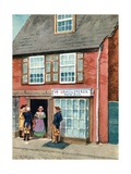 Betsy Ross Outside Her Upholstery Shop in Philadelphia Giclee Print