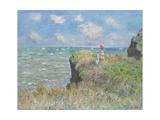 Passeggiata sulla scogliera Stampa giclée di Claude Monet
