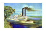 The Mississippi Steamboat Magnolia Giclee Print