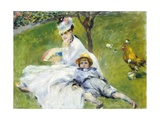 Madame Monet and Her Son Giclee Print by Pierre-Auguste Renoir