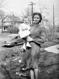 Young Mother and Her Baby Girl, Ca. 1942 Photographic Print