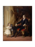 Albert Prince Consort with Princess Victoria and Eos Giclee Print by G. Lucas