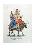 Shiva with His Consort Parvati Giclee Print