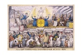 All Lotteries Will End for Ever Giclee Print by Isaac Robert Cruikshank