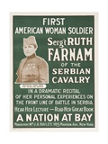 Wwi Poster for Lecture Giclee Print by Ruth Farnam