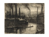 View of East London Giclee Print by Joseph Pennell