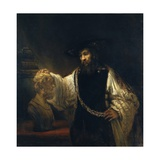 Aristóteles contemplando el busto de Homero Lámina giclée por  Rembrandt van Rijn