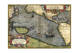 Map of the Pacific Ocean Giclee Print by Abraham Ortelius