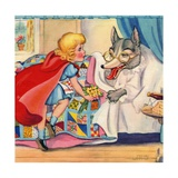 Big Bad Wolf and Little Red Riding Hood Giclee Print