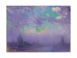 Green, Blue and Purple (View of London) Giclee Print by Joseph Pennell