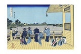 Sazai Hall of the Five Hundred Rakan Temple Giclée-Druck von Katsushika Hokusai