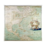 Map of the Northern Section of North America Giclee Print by Abbott Claude Bernou