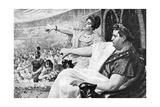 "Illustration Showing the Emperor Nero Giving the ""Thumbs Down"" Signal Giclee Print"