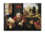 St. Jerome in His Study Giclée-tryk af Joos Van Cleve