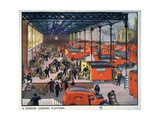 A London Loading Platform Giclee Print