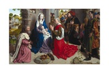 The Adoration of the Kings (The Monforte Altarpiece) Giclee Print by Hugo van der Goes