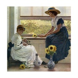 Sun and Moon Flowers Giclee Print by George Dunlop Leslie