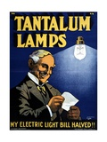 Tantalum Lamps Poster Giclee Print