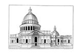 Sir Christopher Wren's Original Model for St. Paul's Cathedral Giclee Print
