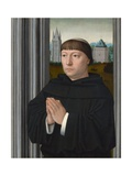 An Augustinian Friar Praying Giclee Print by Gerard David