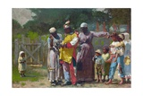 Dressing for the Carnival Stampa giclée di Winslow Homer