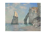 The Cliffs at Etretat Giclee Print by Claude Monet