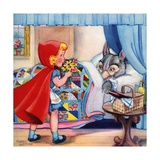 Big Bad Wolf Disguised in Grandmother's Bed Giclee Print