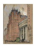 Waldorf Astoria Hotel Giclee Print by Joseph Pennell