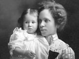Young Mother with Her Toddler Son, Ca. 1913 Photographic Print