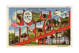 Greeting Card from Fort Jackson Giclée-Druck