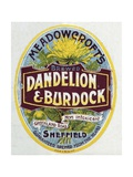 Meadowcroft's Dandelion and Burdock Label Giclee Print