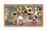 Battle Between the Armies of Rama and the King of Lanka Giclee Print