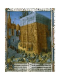 Construction of the Temple at Jerusalem by King Solomon Giclee Print