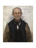 Old Willie - the Village Worthy Giclee Print by Sir James Guthrie