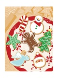 An Illustration of Christmas Themes Cookies Giclee Print
