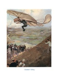 Otto Lilienthal Flying Glider Giclee Print