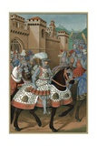 King Louis XII Riding Out with His Army Giclee Print