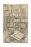 Bookshelves Giclee Print by Edgar Degas