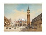 Piazza Di San Marco, Venice Giclee Print by Friedrich Perlberg