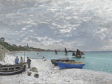 The Beach at Sainte-Adresse Giclee Print by Claude Monet