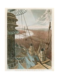 Bird's Eye View from the Stair-Case and the Upper Part of the Pavilion, the Colosseum, Rome Giclee Print
