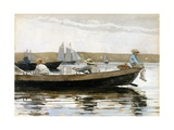 Boys in a Dory Giclee Print by Winslow Homer