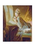 Kärleksbrevet Gicleetryck av Jean-Honoré Fragonard